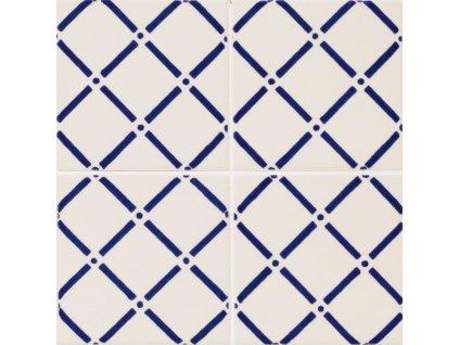 maiolica obklady modrobile 10x10 retro majolika Trama