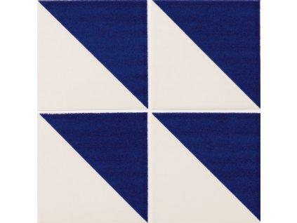 maiolica obklady modrobile 10x10 retro majolika Triangolo
