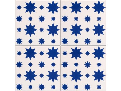 obklady rucne malovane modro bile dekor filicudi iii