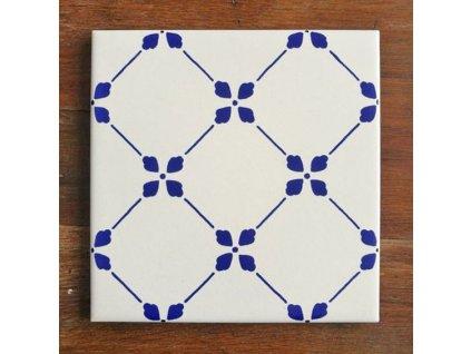 musa obklady malovane sitotisk handmade 10x10 modrotisk