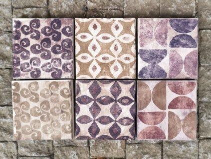 cotto vogue dlazba vintage rustikalni retro romanticka 10x10 fialove dekory