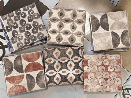 cir cotto vogue texture grigio 20x20 obklady retro rustikalni selske chalupu kuchyne koupelny