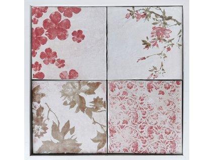 cotto vogue dlazba vintage rustikalni retro romanticka jardin bezovy kvetiny 20x20