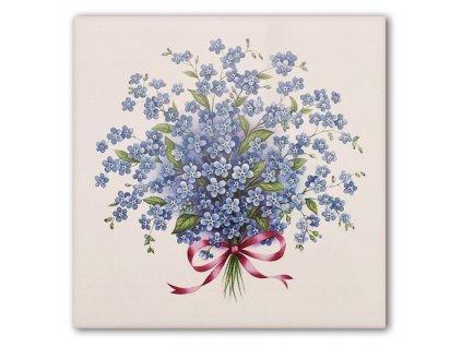 malovane obklady 15x15 pomnenky kvetiny