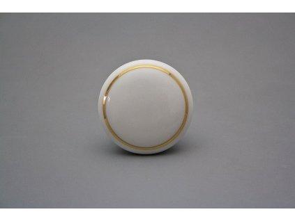 Porcelánová úchytka se zlatou linkou 45 mm