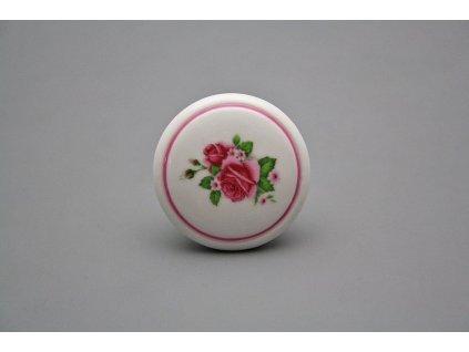 Porcelánová úchytka růže 45 mm