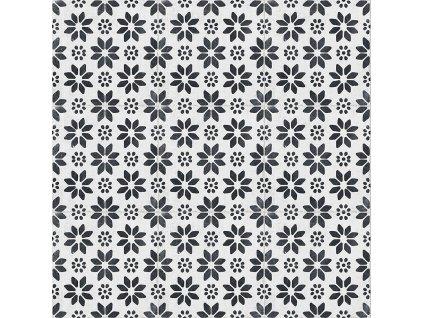 RE STYLE White Lilium dlažba či obklad s dekorem