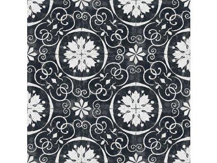 RE STYLE Black Tulips dlažba či obklad s dekorem