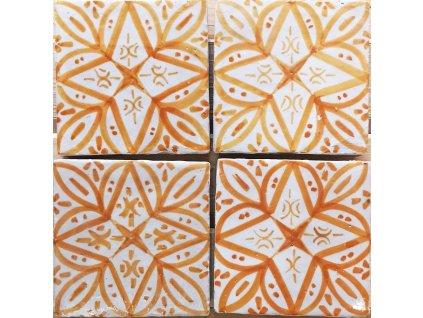 maroko keramicke obklady rucne malovane zluta 01