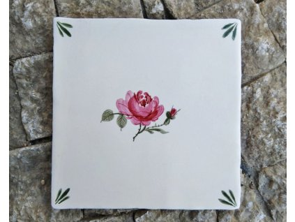 obklady rucne malovane handmade ruzicka selske 01