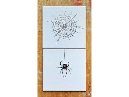 rucne malovane obklady selske pavouk pavucina malir jv