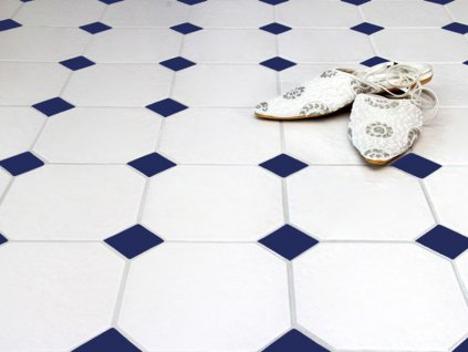 metro ottagono bianco dlazba oktagobalni retro bila modre tozetto ctverecek 09