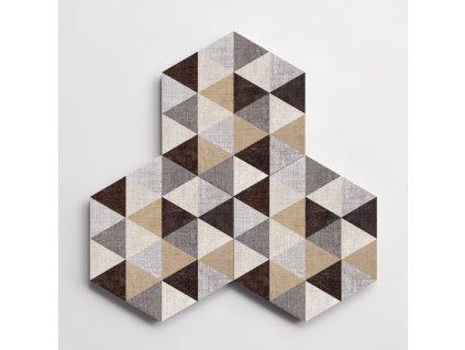 textile hexagonalni dlazba obklady dekor trojuhelniky 01