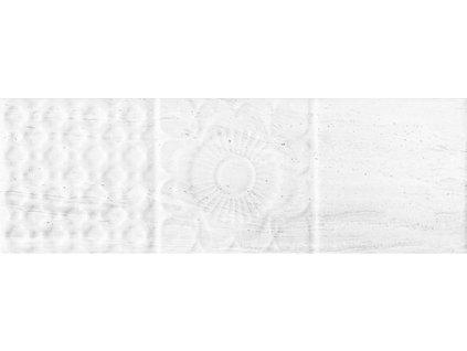 Obklad do koupelny bílý lesklý reliéfní genesis blanco 10x30