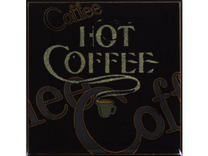 Obklad do interiéru dekorovaný lesklý černý káva coffee gold 15x15