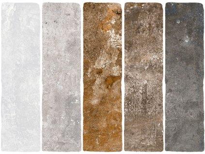 jerica obklady cihelne pasky rustikalni obdelnik barvy