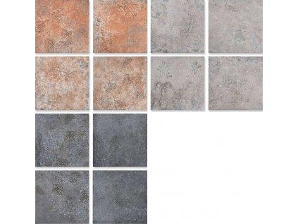 Toscana dlazba retro terakota cihelna dekory 20x20