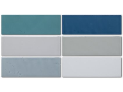 obklad do interiéru jednobarvný lesklý 5x15 extruded flat aqua