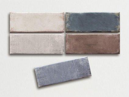 vintage obklady matne rustikalni obdelnik 7 5x20 jednobarevne