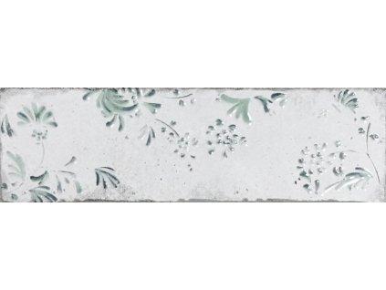 listela keramicka se zelenym dekorem 10x30