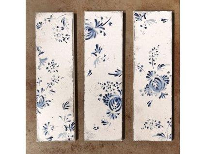 obklady modrotisk relief obdelnik dekory vzory 02