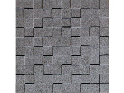 mozaika kamenna 3d hnedo seda plato 01