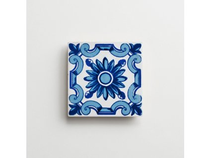 antic obklady 13x13 dekor malovane handmade Antic Flor Azul
