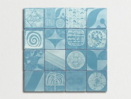 antic obklady dekor malovane handmade shibori 13x13 01