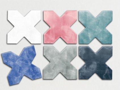 be colors obklady hvezdy koupelny kuchyne cross jednobarevne