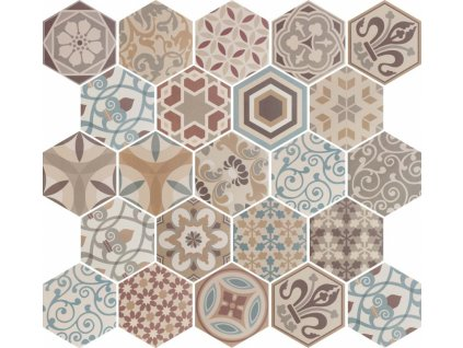 hexatile harmony colours dlazba obklady hexagony patchwork dekory 01