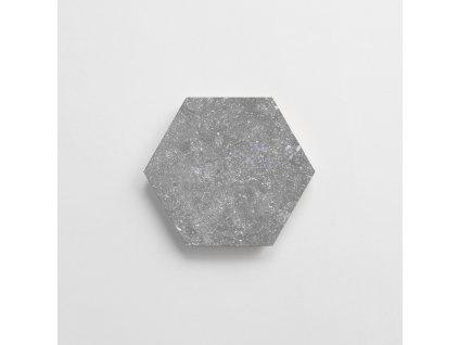 coralstone grey dlazba hexagonalni sestiuhelnik jednobarvna seda