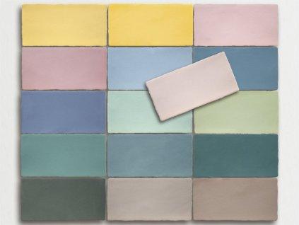 antic pastels obklady pastelove jednobarevne obdelnik 01
