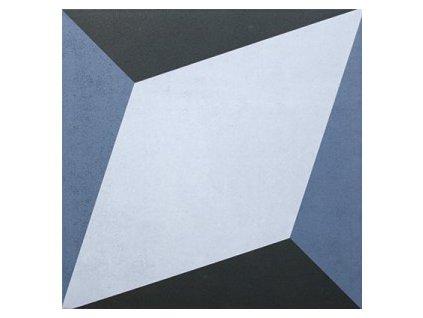 dlažba do interiéru dekorovaná matná 20x20 geometric dec 3 azul