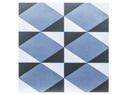 dlažba do interiéru dekorovaná matná 20x20 geometric dec 4 azul