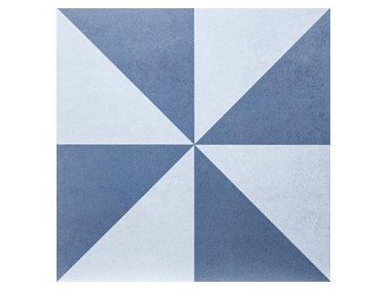 dlažba do interiéru dekorovaná matná 20x20 geometric dec 5 azul