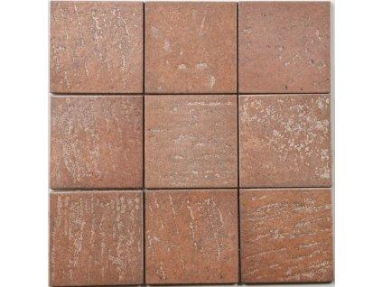dlažba a obklad cihlový matný 10x10 earth san pietro