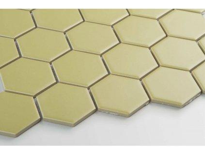 mozaika hexagon velky zluta mat podlaha scaled