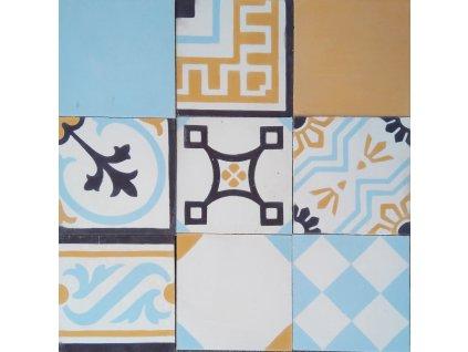 cementova orientalni dlazba patchwork 0601 17x17