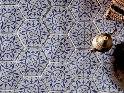 marrakech obklady dlazba dekory orientalni hexagon 02