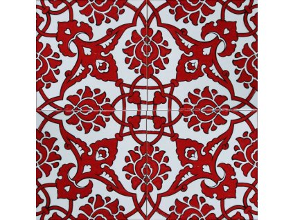 iznik obklady handmade rucne vyrobene cervene relief 01