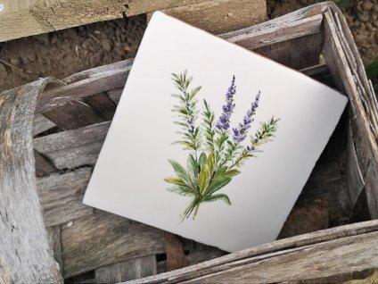 malovane obklady selske levandule bylinky 02