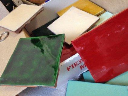 zelij obklady jednobarevne 10x10 handmade syte barvy 01