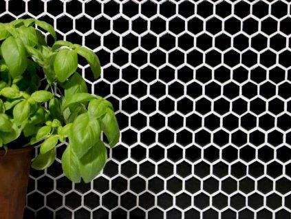 hexagon mozaika cerna leskla 01
