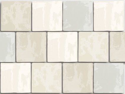 antic obklady malovane handmade jednobarevne cream mix craquele 13x13 02