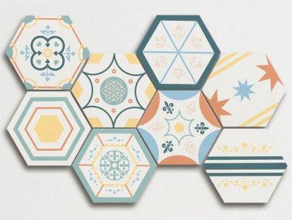 boom obklady hexagon patchwork jednobarevne sestiuhelnik 02