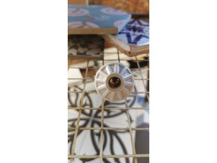 porcelanova knopka uchytka bila vinci obklady