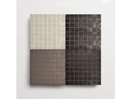 curves mozaika ctverecek jednobarevna strukturovana barvy