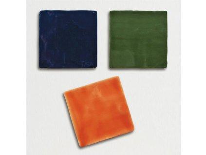 trending colors jednobarevne obklady obdelnik retro lesk 13x13