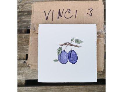 obklad bily rucne malovany švestky vinciobklady
