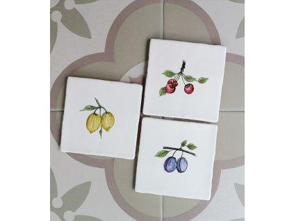 obklad keramicky dekor ovoce sada vinci obklady